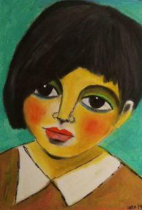 Pastellmalerei, Kind, Glück, Zeichnungen