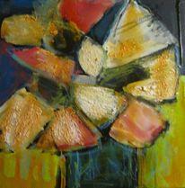 Malerei, Vase, Blumen