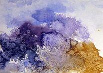 Aquarellmalerei, Schicht, Nass, Pflanzen