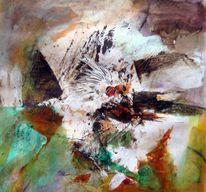 Acrylmalerei, Abstrakt, Schicht, Malerei