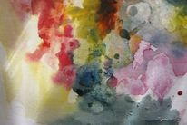 Aquarellmalerei, Abstrakt, Nass, Aquarell