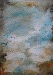 Nass, Aquarellmalerei, Landschaft, Schicht
