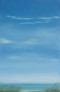 Himmel, Malerei, Küste, Ölmalerei