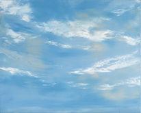 Malerei, Himmel, Ölmalerei, Wolken
