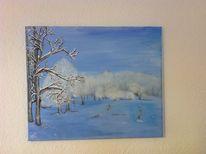 Wald, Winterlandschaft, Schnee, Baum