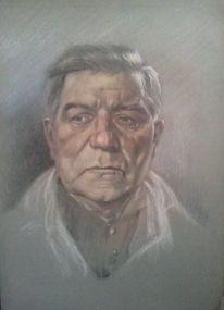 Bleistiftzeichnung, Jean gabin, Pastellmalerei, Mix
