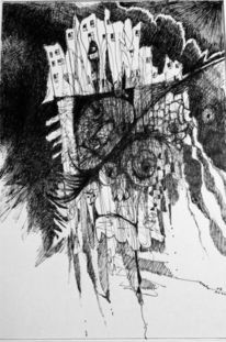 Kritzelei, Experimente, Schwarz weiß, Komposition