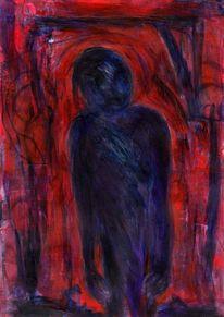 Rot, Nacht, Traum, Malerei