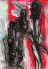 Figural, Surreal, Rot, Abstrakt