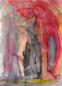 Abstrakt, Rot, Surreal, Malerei