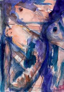 Abstrakt, Blau, Surreal, Malerei