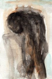 Abstrakt, Figural, Braun, Surreal