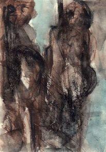 Figural, Braun, Surreal, Abstrakt