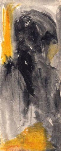 Surreal, Gelb, Abstrakt, Figural