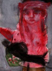Surreal, Rot, Blut, Malerei