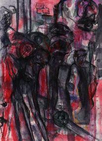 Rot, Nacht, Abstrakt, Surreal