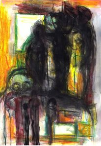 Figural, Gelb, Surreal, Abstrakt