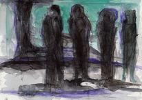 Kalt, Nacht, Surreal, Malerei