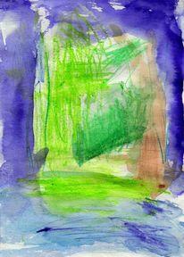 Surreal, Abstrakt, Grün, Malerei