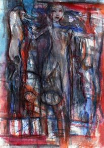Rot, Blau, Surreal, Figural