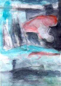 Rot, Blau, Surreal, Abstrakt