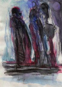 Abstrakt, Blau, Rot, Surreal