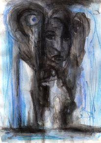 Figural, Surreal, Abstrakt, Malerei