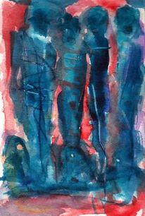 Rot, Surreal, Blau, Figural