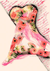 Kleid, Fotografie, Mixedmedia, Illustration
