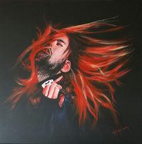 Musik, Rot schwarz, Portrait, David garrett