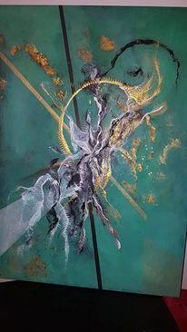 Abstrakt, Schwarz, Meer, Acrylmalerei