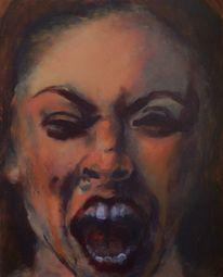 Schrei, Grimasse, Emotion, Malerei