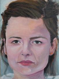 Realismus, Portrait, Frau, Malerei