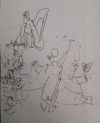 Konzert, Bewegung, Musik, Zeichnungen