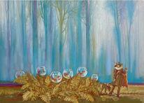 Figural, Wald, Fantasie, Hund