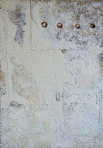 Alt, Acrylmalerei, Sand, Patina
