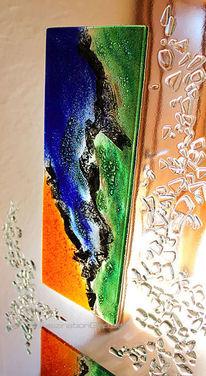 Bunt, Extravagant, Glas, Glasausschnitt