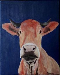 Malen, Zeitgenössische kunst, Kuh, Bulle