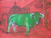 Kuhkünstler, Kuh, Rostkuh, Milan art