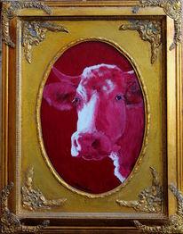 Moderne kunst, Stier bulle, Kuh, Milan art