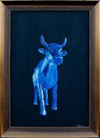 Kuhmaler, Zeitgenössische kunst, Acrylmalerei, Kuh