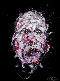 Violett, Gesicht, Rot schwarz, Ausdruck