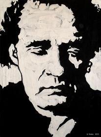 Menschen, Johnny cash, Portrait, Malerei