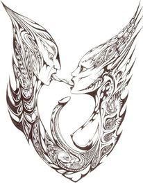 Liebe, Sexualität, Schwarz weiß, Zeichnungen
