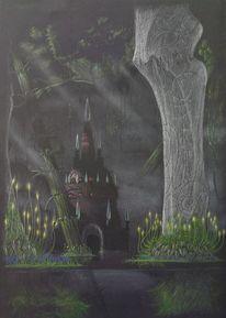 Urwald, Alte stadt, Tempel, Wasser