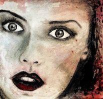 Blick, Frau, Augen, Malerei