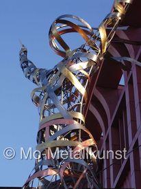 Moderne statue, Besuch, Kupfer, Innere