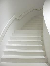Weiß, Aufsteigend, Treppe, Fotografie