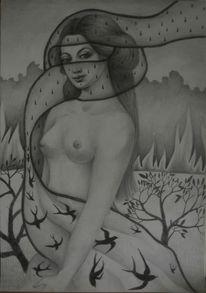 Surreal, Religion, Natur, Frau
