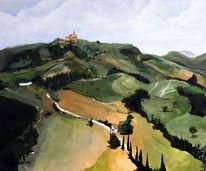 Italien, Landschaft, Acrylmalerei, Marke